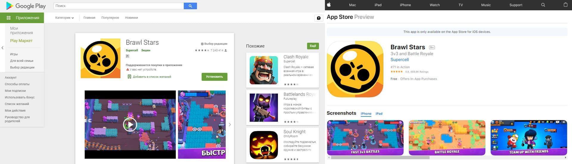 Play Market и App Store