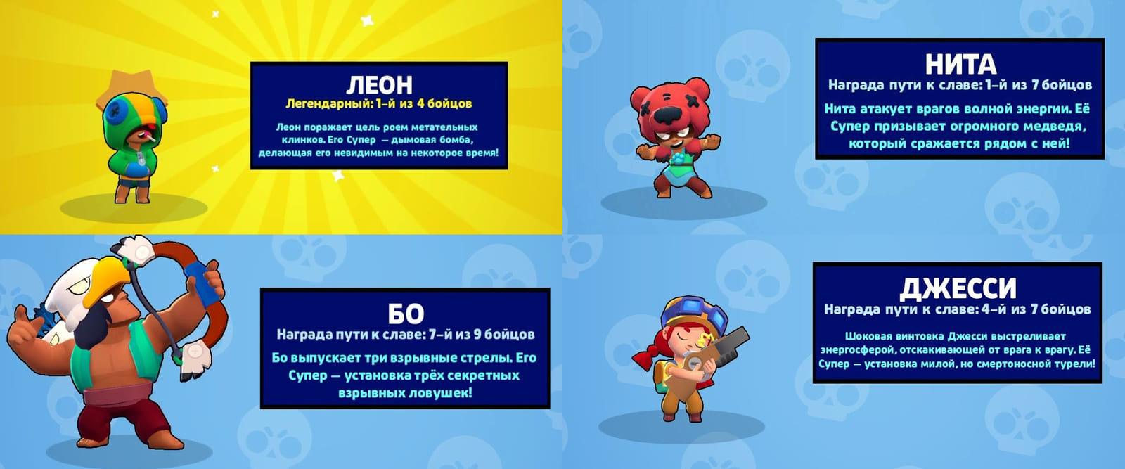 Какие персонажи могут поднять кубки в Бравл Старс