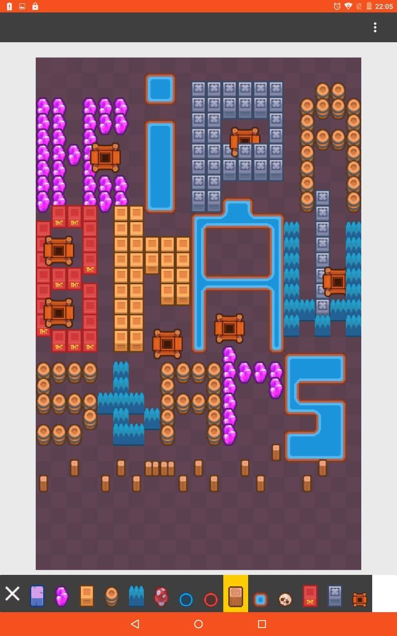 Я создал свою карту в Бравл Старс