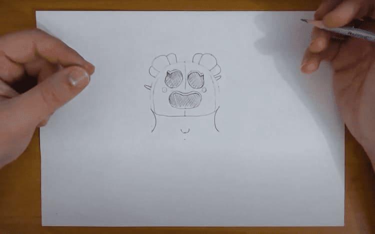 Как легко нарисовать Спайка из Brawl Stars