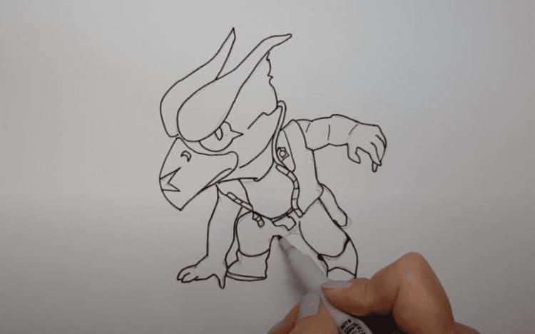 Как легко нарисовать Ворона из Бравл Старс