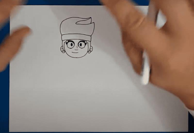 Как нарисовать Амбер из Бравл Старс карандашом поэтапно