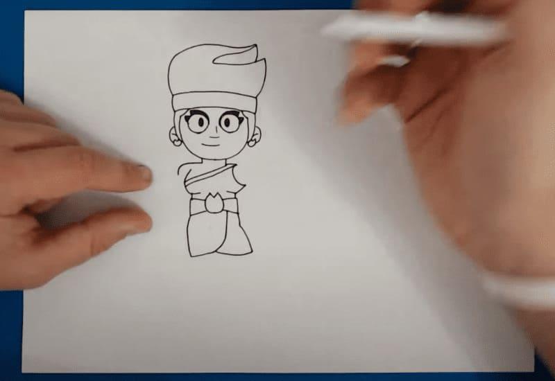 Как нарисовать Амбер из Бравл Старс по клеточкам на листах а4