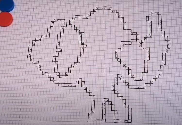 Как нарисовать Эдгара из Бравл Старс по клеточкам