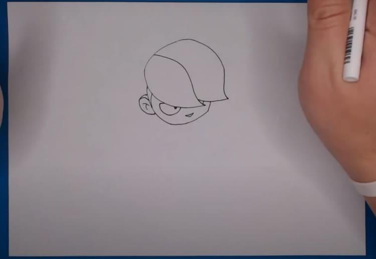 Как нарисовать Эдгара из brawl stars поэтапно