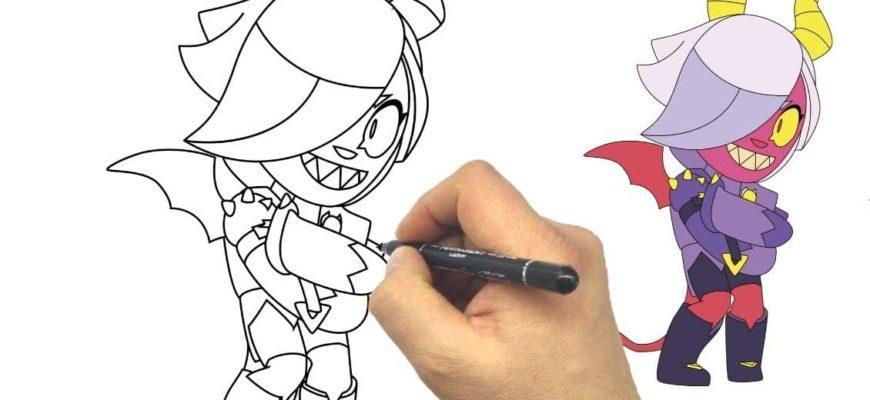 Как нарисовать Колетт из Бравл Старс