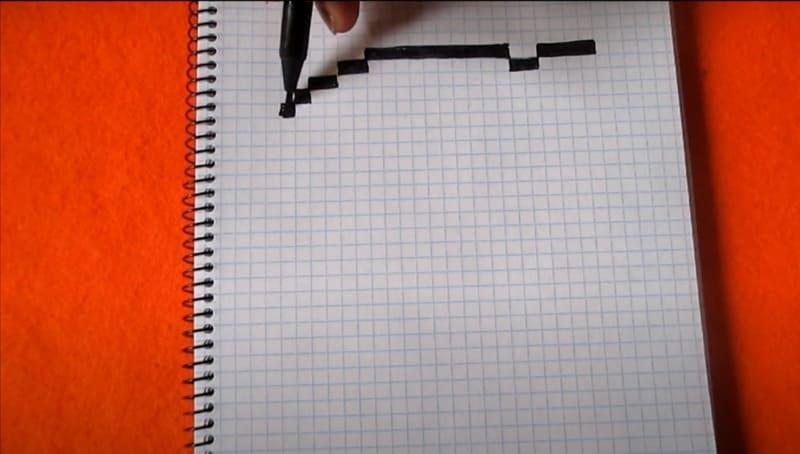 Как нарисовать Коллет по клеточкам 1