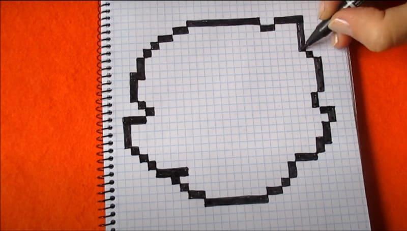 Как нарисовать Коллет по клеточкам 2