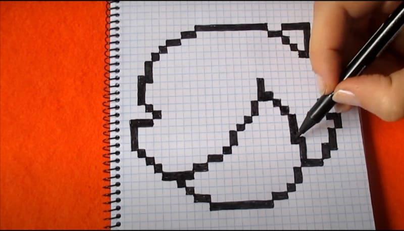 Как нарисовать Коллет по клеточкам 3