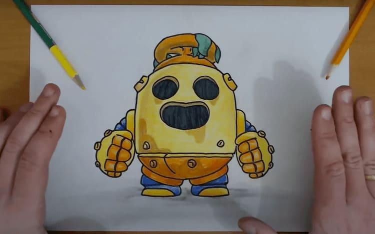 Как нарисовать Робо Спайка из Бравл Старс