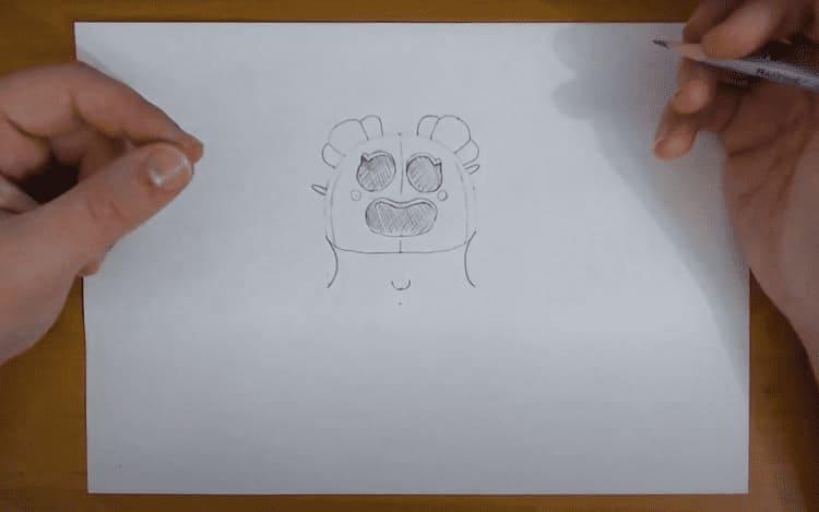 Как нарисовать Сакуру Спайка из Brawl Stars