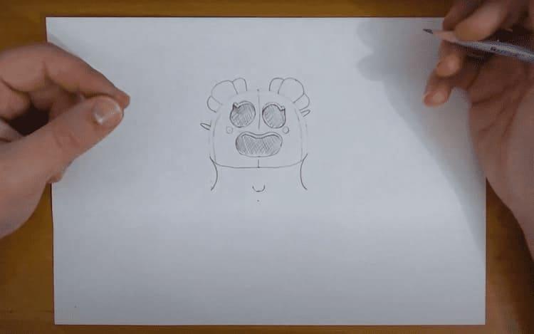 Как нарисовать Сакуру Спайка