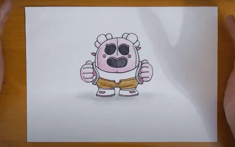 Как нарисовать Спайка из Бравл Старс карандашом поэтапно для начинающих