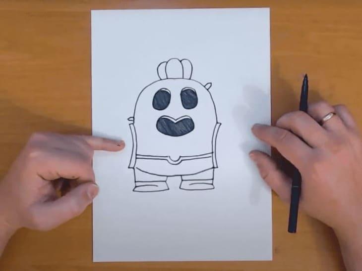 Как нарисовать Спайка из игры Brawl Stars
