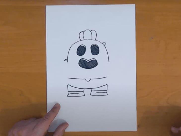 Как нарисовать Спайка поэтапно