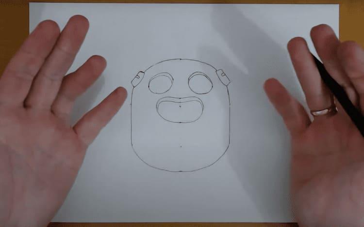 Как нарисовать Спайка в Brawl Stars