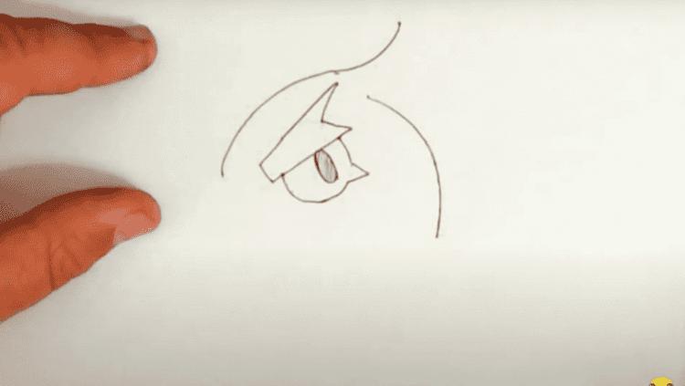 Как нарисовать Ворона из Бравл Старс карандашом