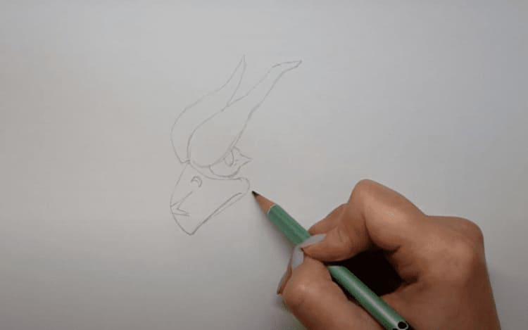 Как нарисовать Ворона из Бравл Старс легко