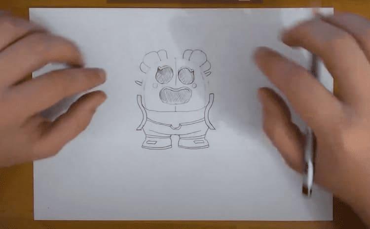 Как нарисовать бравлера из Бравл Старс Спайка