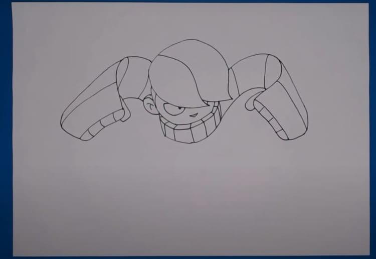 Как нарисовать иконку Эдгара из Бравл Старс