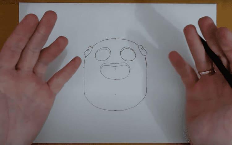 Как нарисовать иконку Спайка из Бравл Старс