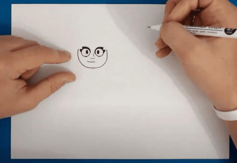 Как нарисовать из Бравл Старса Амбер