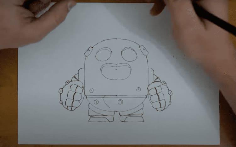 Как нарисовать из Brawl Stars Спайка
