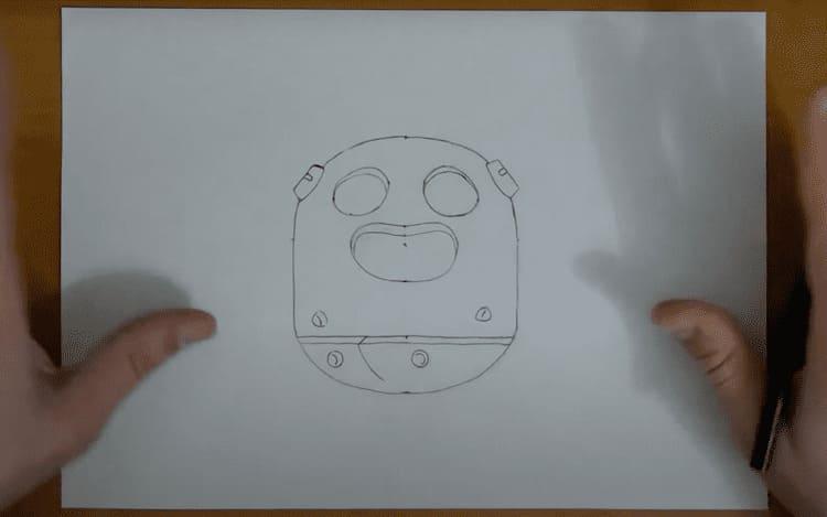 Как нарисовать лицо Спайка