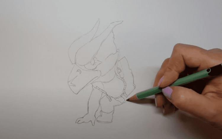 Как нарисовать меха Ворона из Бравл Старс