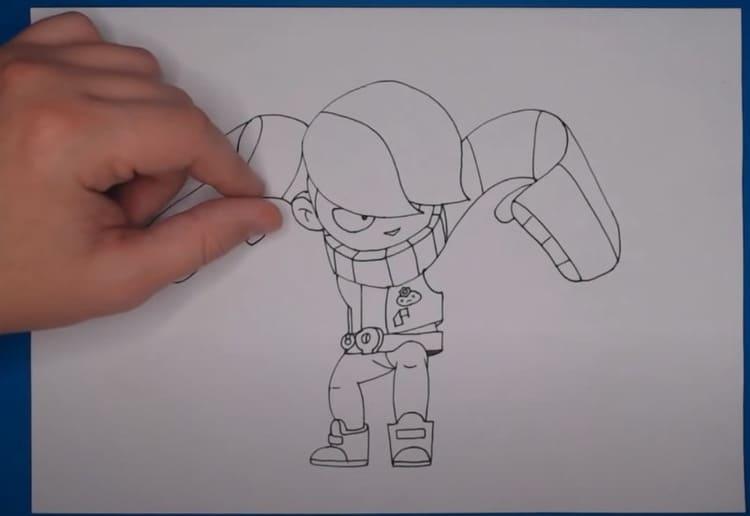 Как нарисовать молниеносного Эдгара из Бравл Старс