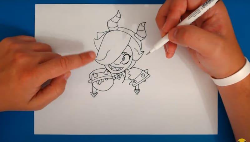 Как нарисовать скин Малефисента Колетт 7