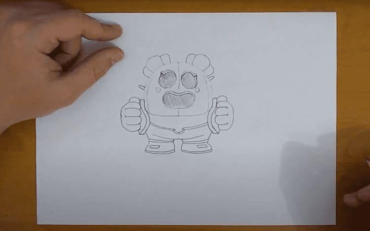 Как нарисовать скин Спайка из Бравл Старс