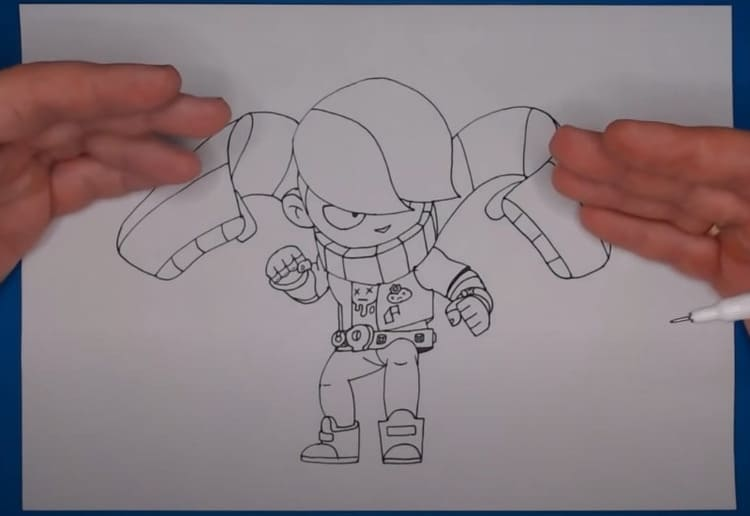 Как нарисовать значок Эдгара из Бравл Старс