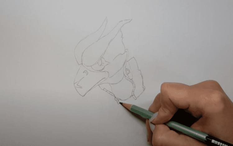 Как нарисовать золотого Ворона из Бравл Старс