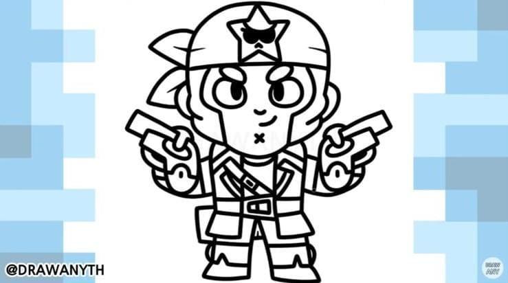 Корсара кольт нарисовать Бравл Старс 8