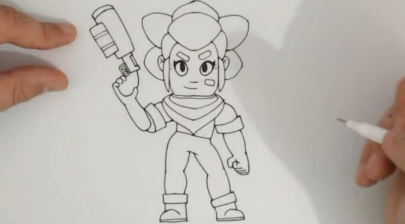 Нарисовать Шелли с оружием 10