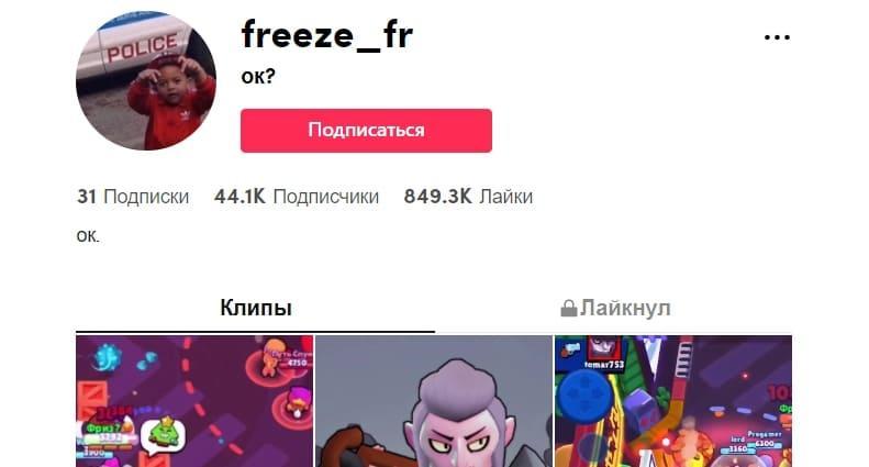 freeze_fr ТикТокер