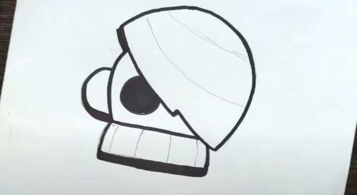 как нарисовать эдгара из бравл старс картинки
