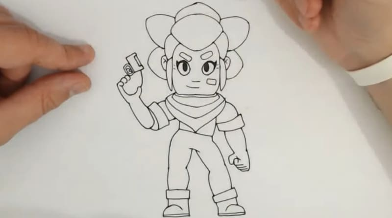 Поэтапно нарисовать Шелли 9