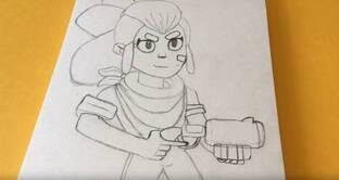 Шелли нарисовать карандашом